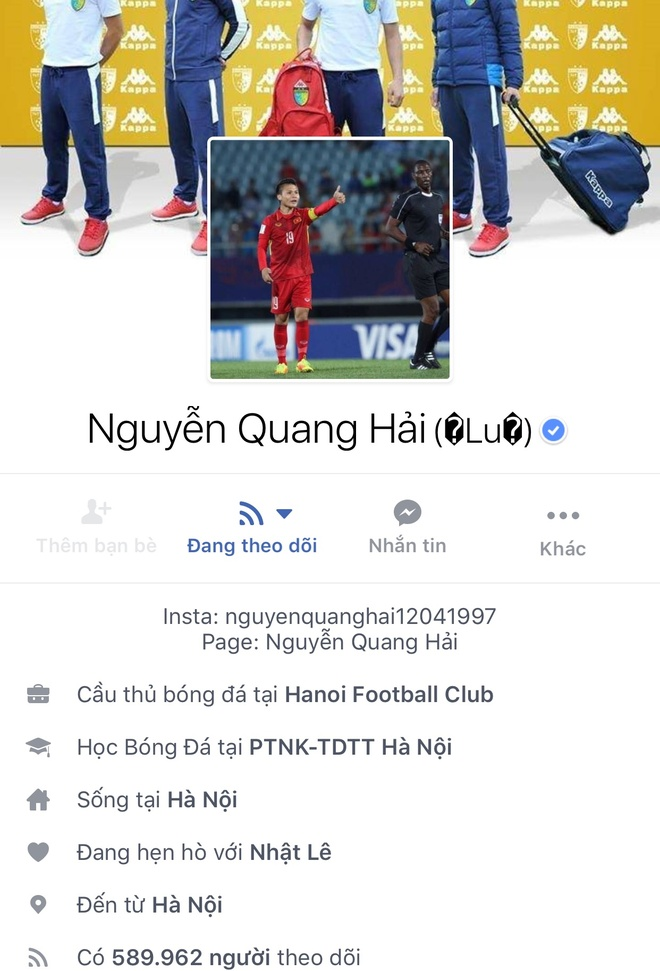 Facebook cau thu U23 tang chong mat, Tien Dung dat 2,5 trieu follow hinh anh 2