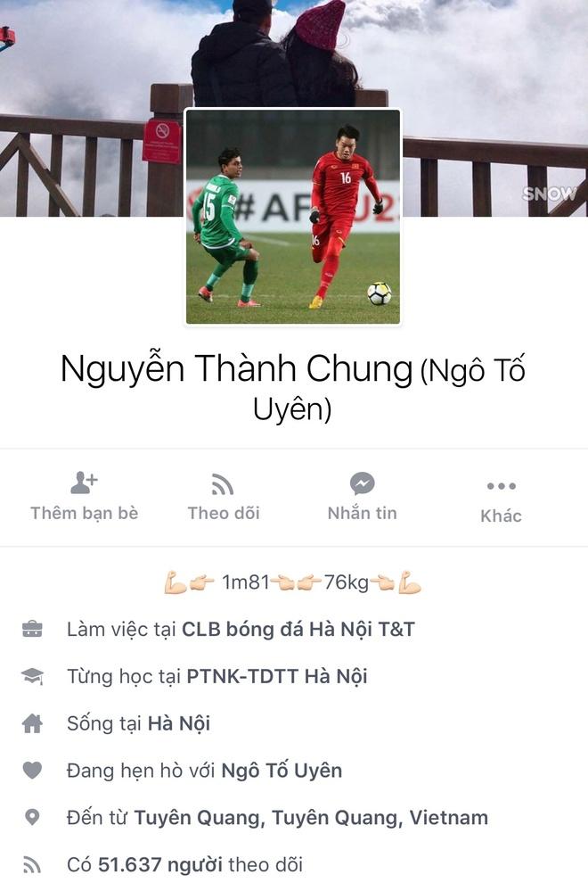 Facebook cau thu U23 tang chong mat, Tien Dung dat 2,5 trieu follow hinh anh 17