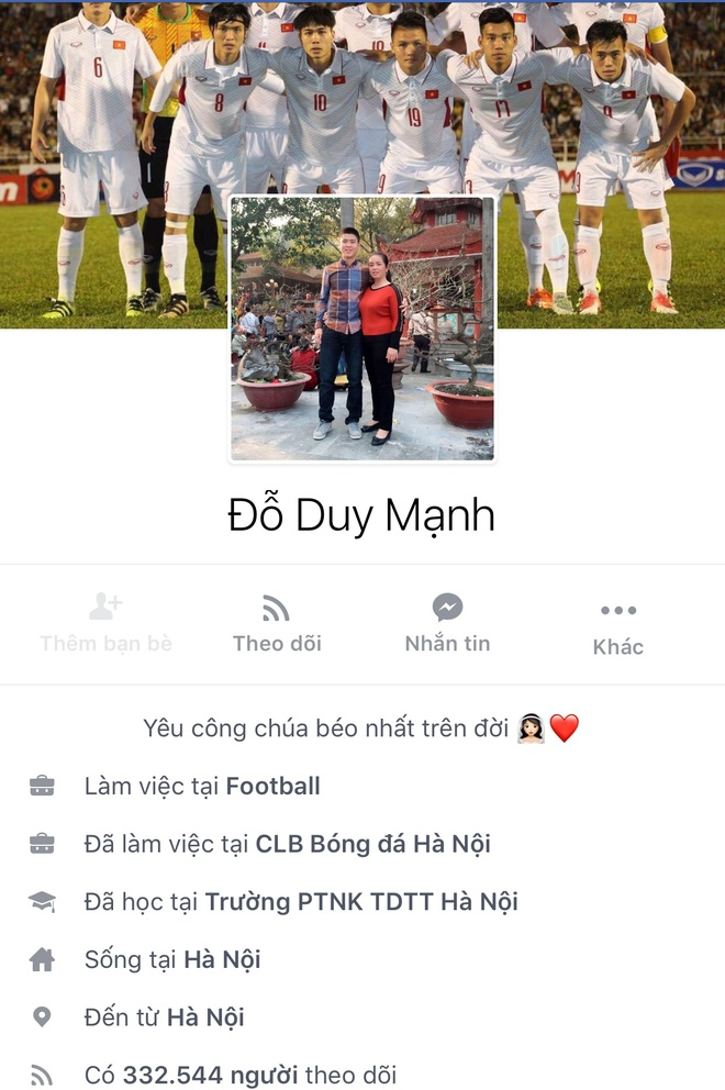 Facebook cau thu U23 tang chong mat, Tien Dung dat 2,5 trieu follow hinh anh 11