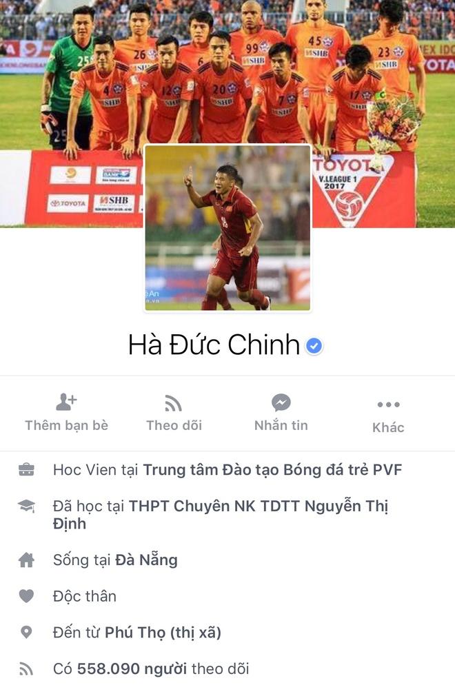 Facebook cau thu U23 tang chong mat, Tien Dung dat 2,5 trieu follow hinh anh 9