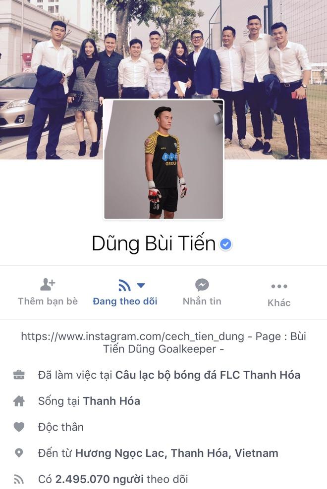 Facebook cau thu U23 tang chong mat, Tien Dung dat 2,5 trieu follow hinh anh 1