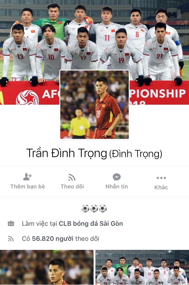 Facebook cau thu U23 tang chong mat, Tien Dung dat 2,5 trieu follow hinh anh 14