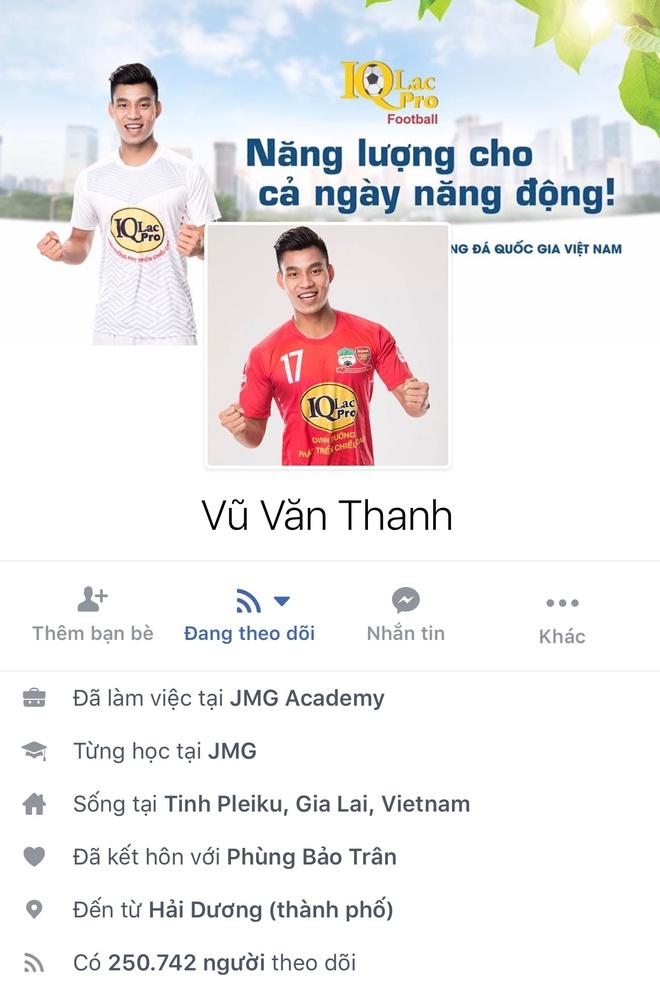 Facebook cau thu U23 tang chong mat, Tien Dung dat 2,5 trieu follow hinh anh 8