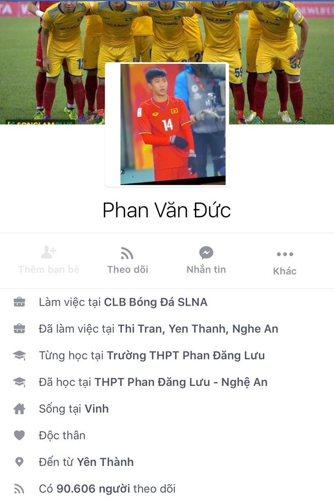 Facebook cau thu U23 tang chong mat, Tien Dung dat 2,5 trieu follow hinh anh 16