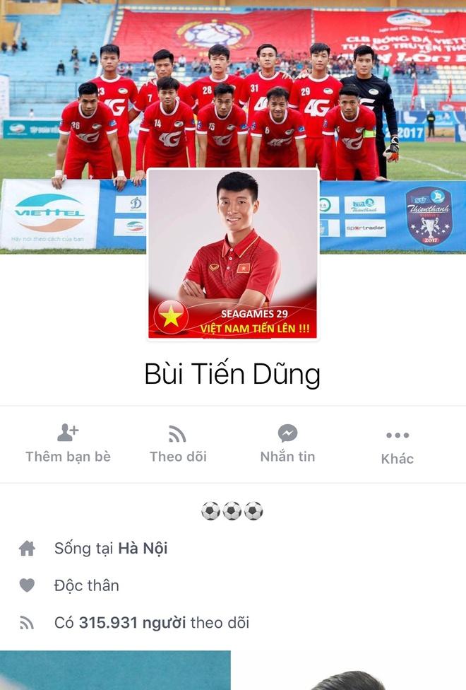Facebook cau thu U23 tang chong mat, Tien Dung dat 2,5 trieu follow hinh anh 7