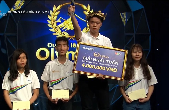 Nam sinh khong co doi thu ve diem so tai Duong len dinh Olympia hinh anh 1