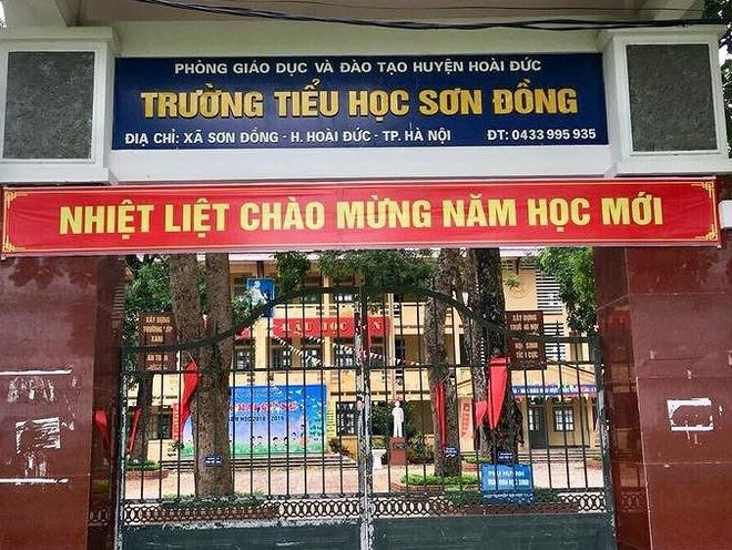Hieu truong truong tieu hoc Son Dong o Hoai Duc bi ky luat canh cao hinh anh