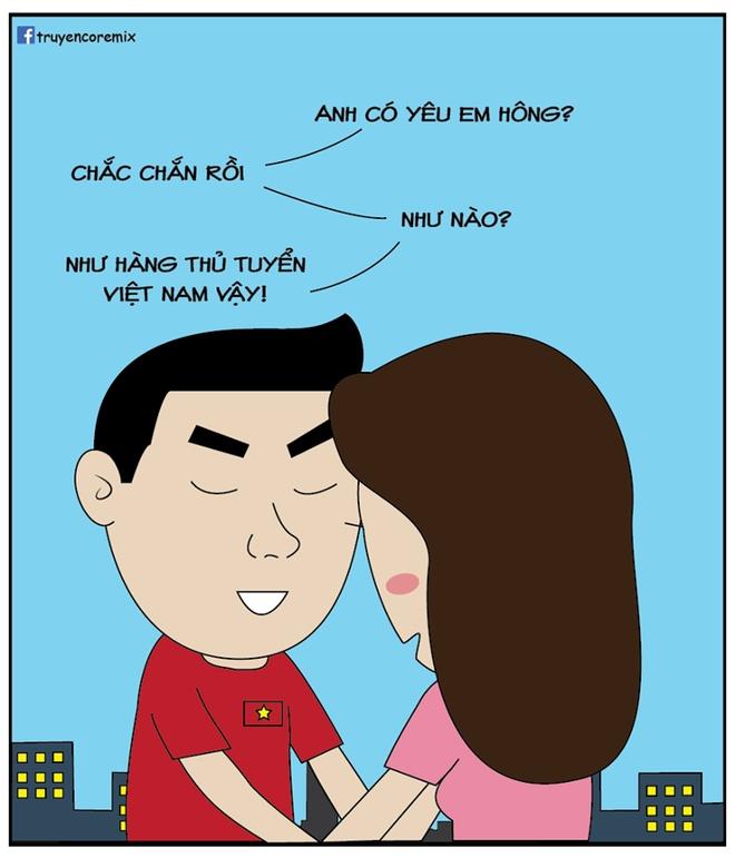 Tranh vui: Tuyen Viet Nam uong bia bang cup, Quang Hai hoa sieu nhan hinh anh 10