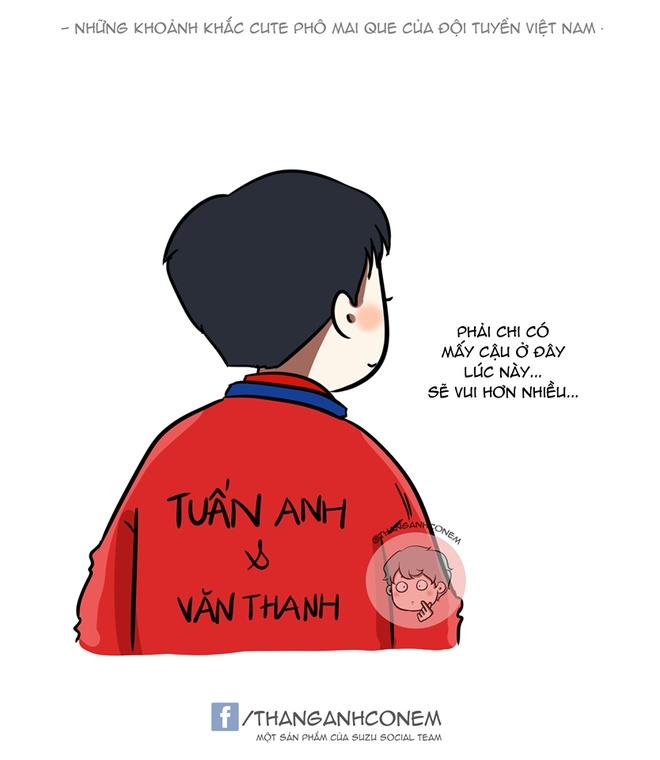Tranh vui: Tuyen Viet Nam uong bia bang cup, Quang Hai hoa sieu nhan hinh anh 7