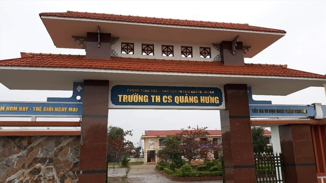 truong cap 2 chi tiep khach anh 1