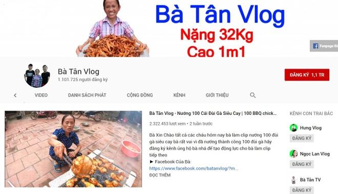'Ba Tan Vlog' va cac kenh nong dan huong dan nau an bung no tren mang hinh anh 1