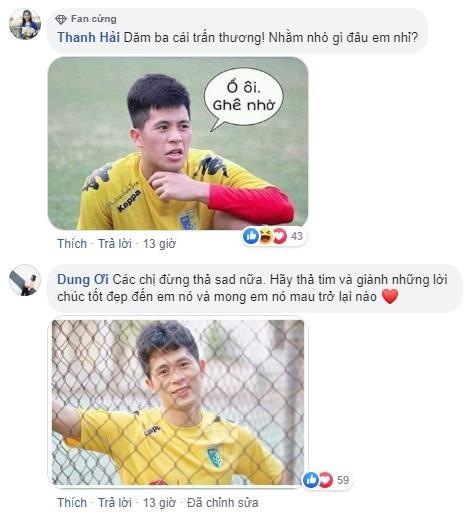 Fan mong Đình Trọng sớm trở lại sau khi điều trị chấn thương