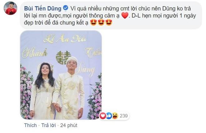 Bui Tien Dung au yem goi Khanh Linh la vo sau le an hoi hinh anh 2