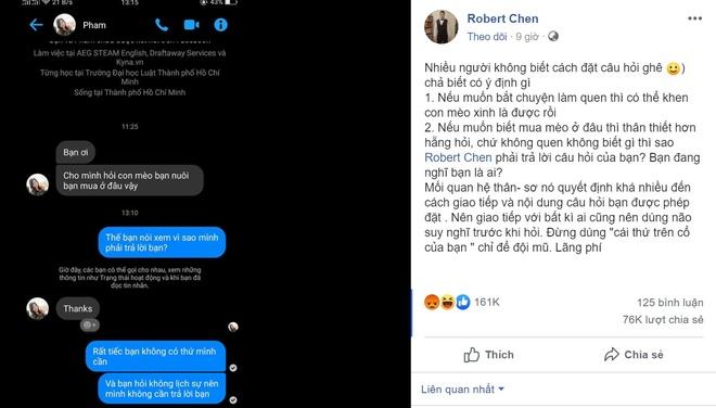 Robert Chen - chu nhan cau 'sao minh phai tra loi ban' bi quay roi hinh anh 1