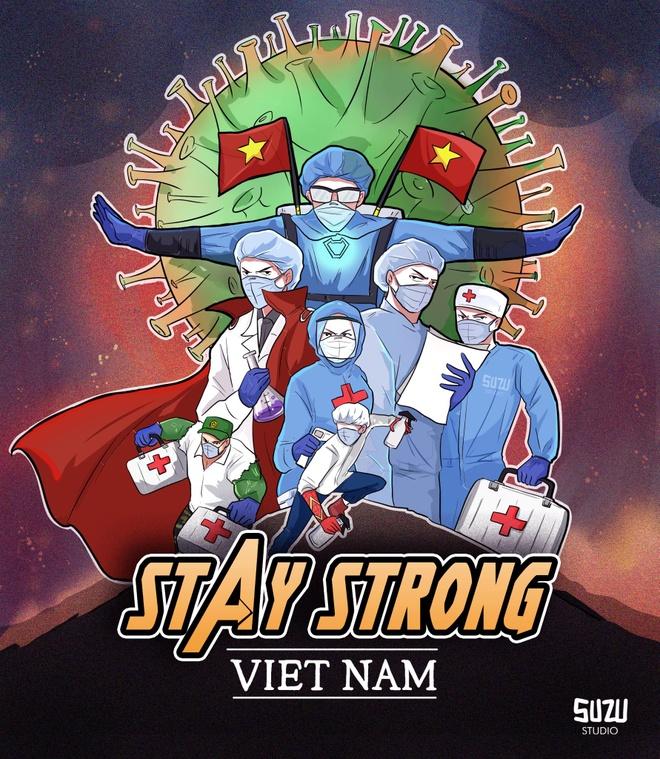 Y bac si Viet hoa sieu anh hung Marvel trong bo tranh co vu chong dich hinh anh 1 1.jpg