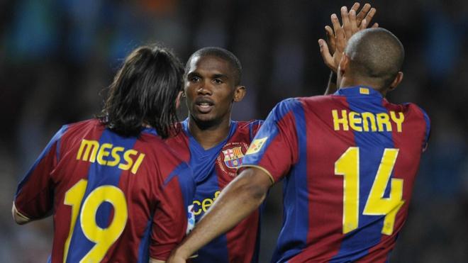 Eto'o: 'Barca thanh cong la nho toi, khong phai Messi' hinh anh 1