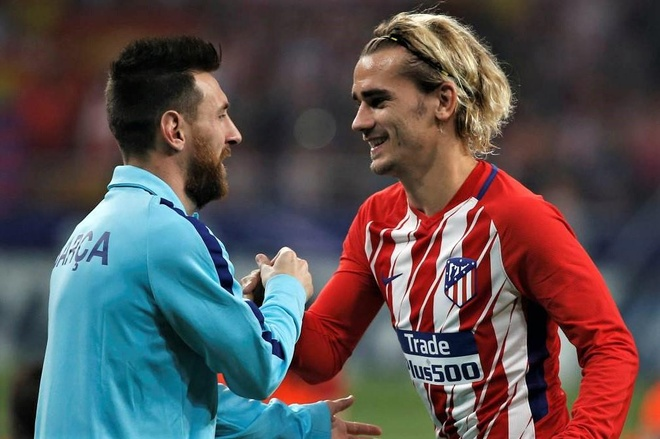 Griezmann bay to su nguong mo Messi hinh anh