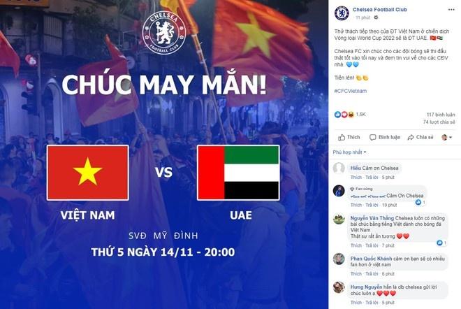 Lucky88 phân tích: Chelsea gửi lời chúc tuyển Việt Nam