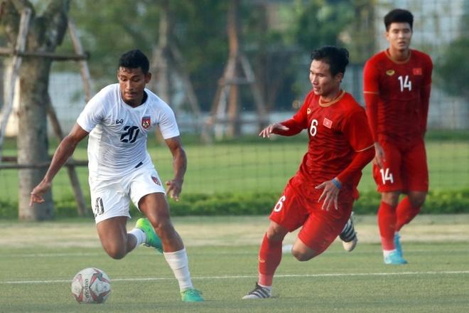 Duc Chinh ghi ban, U22 Viet Nam hoa Myanmar 2-2 hinh anh 1