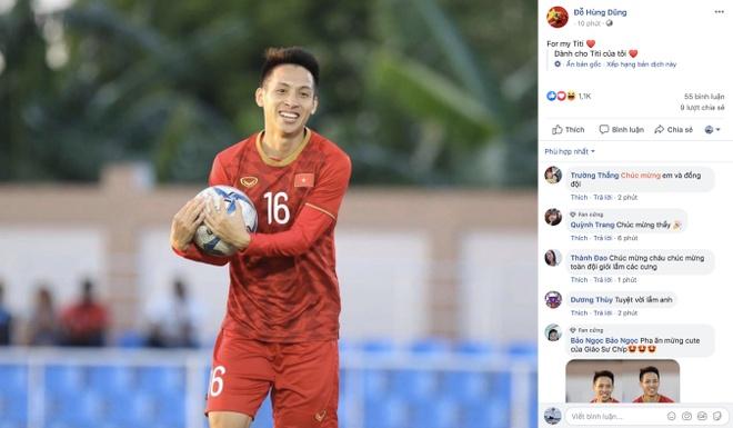 Hung Dung tang ban thang vao luoi U22 Lao cho con trai hinh anh 1
