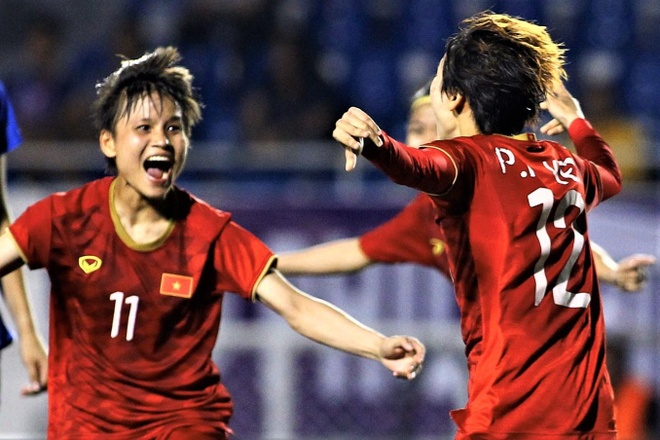 Highlights bong da nu SEA Games 30: Viet Nam 1-0 Thai Lan hinh anh