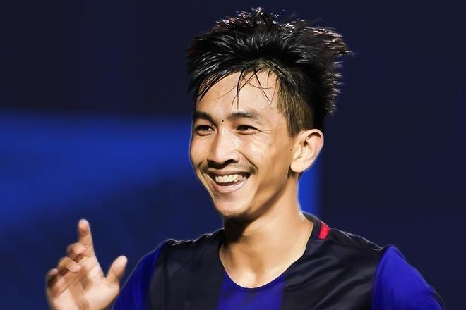 Keo Sokpheng sut phat go hoa 2-2 cho U22 Campuchia hinh anh