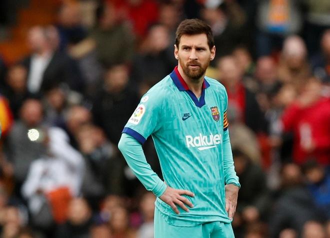 Messi tit ngoi, Barca phoi ao truoc Valencia hinh anh 2 2020_01_25T161743Z_1005542811_RC24NE92OVU4_RTRMADP_3_SOCCER_SPAIN_VAL_FCB_REPORT.JPG