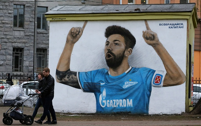 14 tac pham graffiti doc dao lay cam hung tu World Cup 2018 o Nga hinh anh