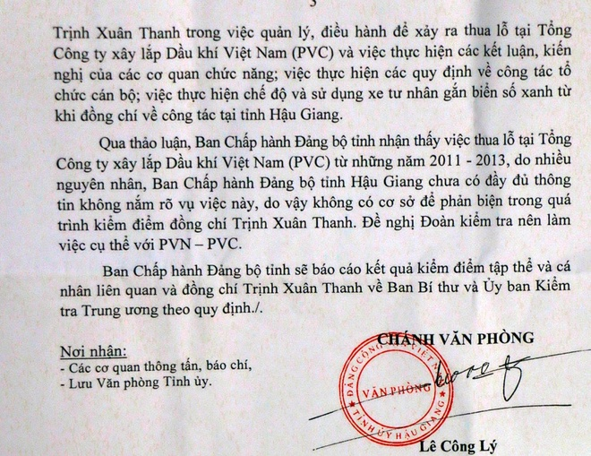 Hau Giang co khuyet diem khi tiep nhan ong Trinh Xuan Thanh hinh anh 1