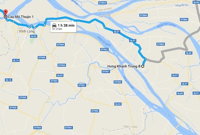 Thi the tai xe nhay cau My Thuan troi xa hon 50 km hinh anh 2