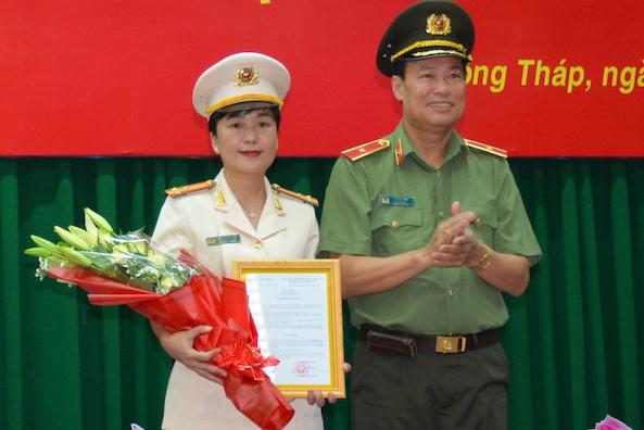 Dong Thap lan dau co nu pho giam doc cong an hinh anh 1 che_ngoc_1.jpg