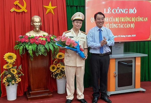 Trung ta Ngo Duc Thang giu chuc vu pho giam doc Cong an tinh Vinh Long anh 1