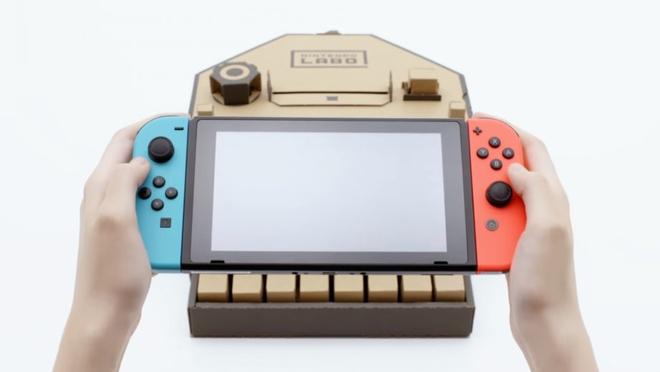 Nintendo Labo - Thiet bi giup choi game bang bia giay hinh anh