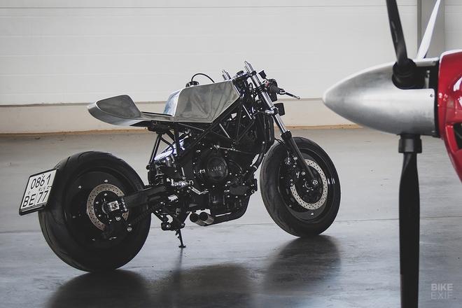 Can canh mau do cafe - streetfighter Yamaha TRX850 tu Nga hinh anh 13