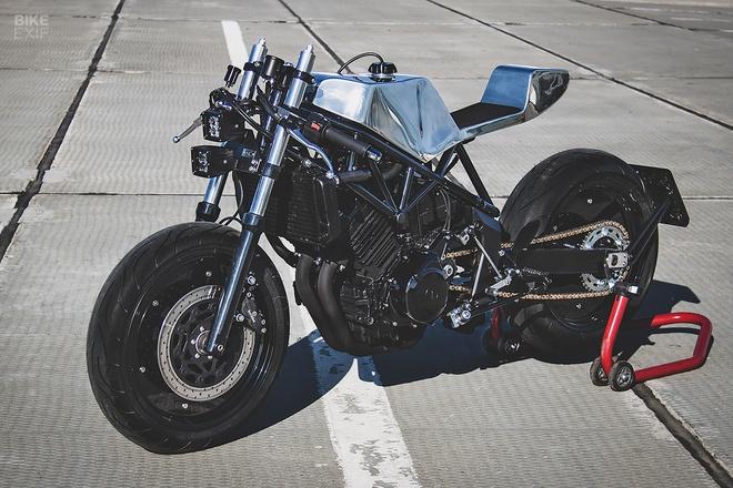 Can canh mau do cafe - streetfighter Yamaha TRX850 tu Nga hinh anh 4