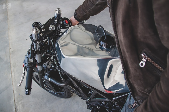 Can canh mau do cafe - streetfighter Yamaha TRX850 tu Nga hinh anh 8