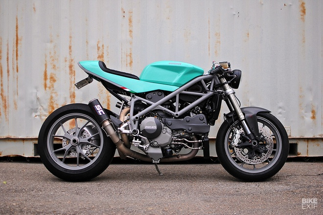 Ducati 848 cafe fighter do mau sac la mat hinh anh
