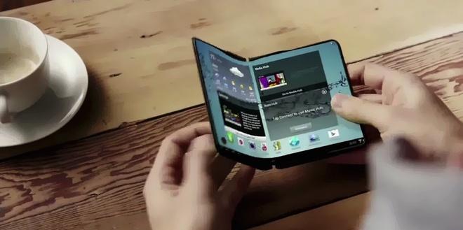Samsung se 'khoa duoi' Apple bang chiec Galaxy X man hinh gap hinh anh