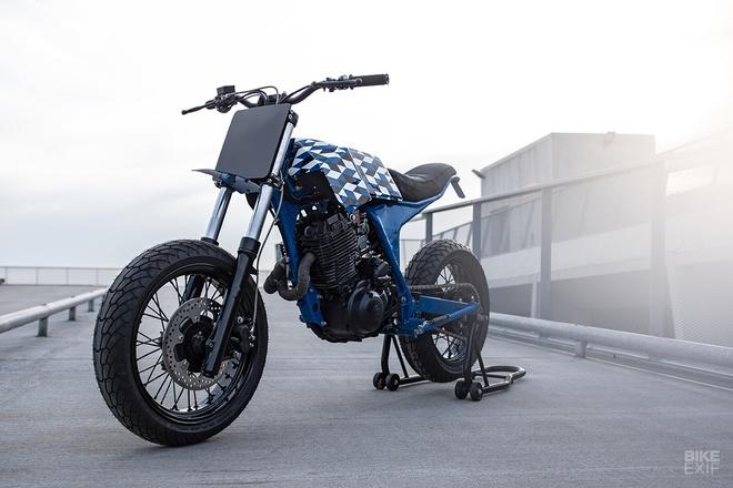 Yamaha XT600 do phong cach Supermoto tu nuoc Phap hinh anh 1