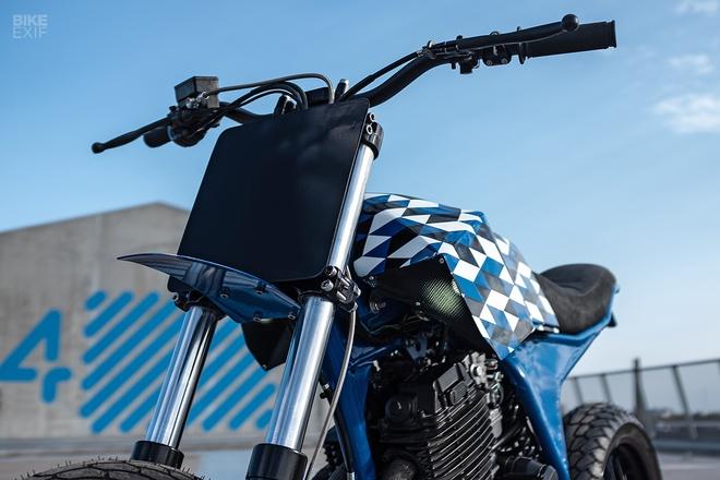 Yamaha XT600 do phong cach Supermoto tu nuoc Phap hinh anh 8