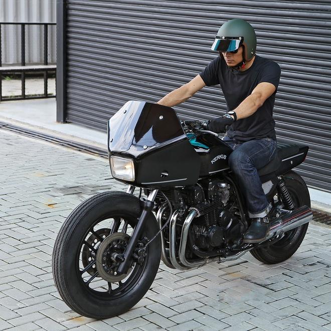 Moto canh sat Honda CBX750 tai xuat voi phong cach ham ho hinh anh 3