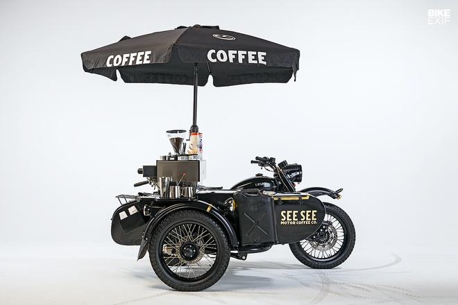 Moto Ural do phong cach xe ban ca phe di dong hinh anh