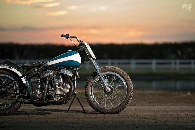 Chi tiet Harley WLA lot xac thanh phong cach Flat Tracker o My hinh anh 1
