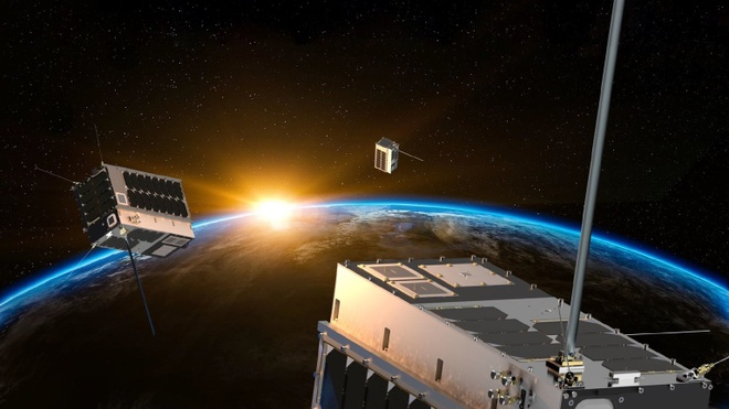 SpaceX sap phong 71 ve tinh do tim hai tac hinh anh