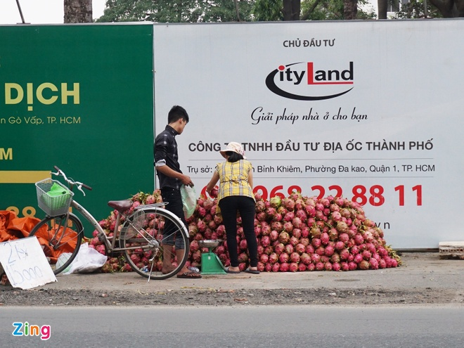 Thanh long Binh Thuan do ve Sai Gon gia 15.000 dong 2 kg hinh anh