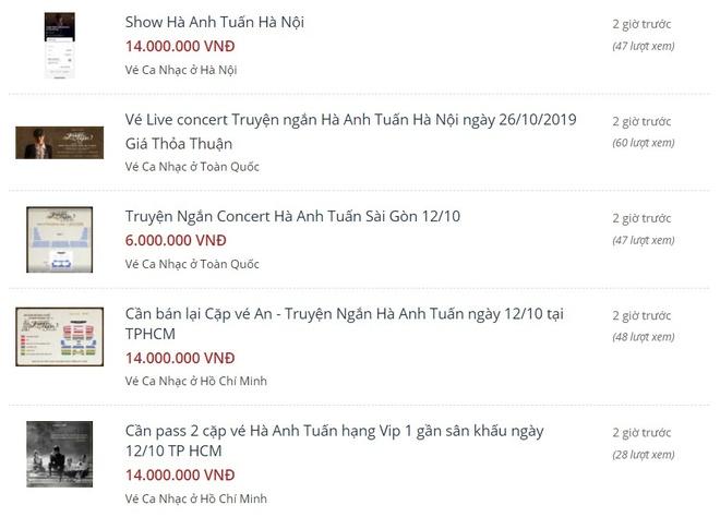 Liveshow Ha Anh Tuan het ve sau 5 phut, 'cho den' het gia 14 trieu/cap hinh anh 1