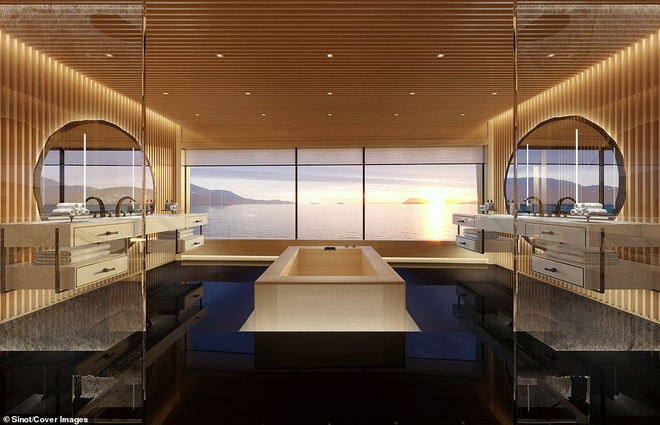 Ben trong du thuyen xa xi 645 trieu USD ty phu Bill Gates moi mua hinh anh 8 18908582_7502517_The_master_bathroom_also_features_floor_to_ceiling_windows_looki_a_7_1569412136676.jpg