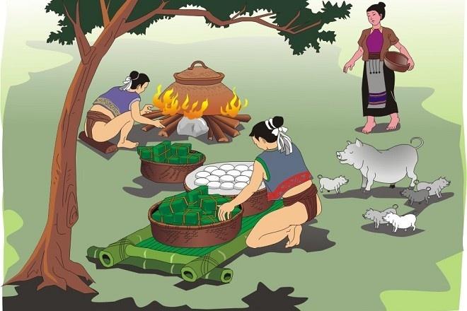 Ai la nguoi dau tien dua banh chung vao Tet Nguyen Dan? hinh anh 1