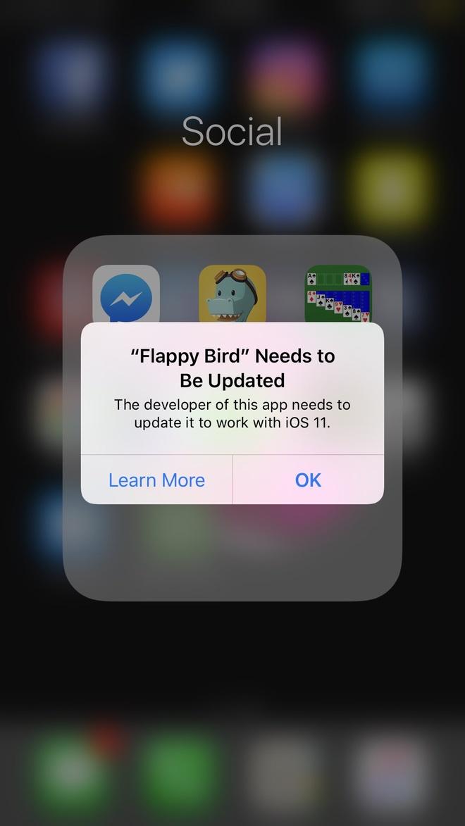 iOS 11 ko ho tro Flappy Bird anh 2