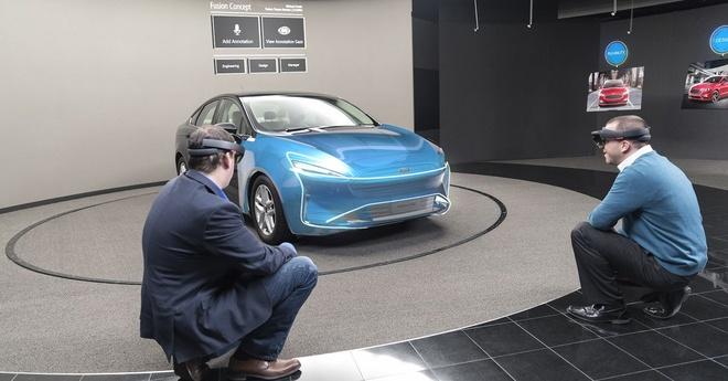 Ford ung dung kinh thuc te ao HoloLens vao thiet ke hinh anh